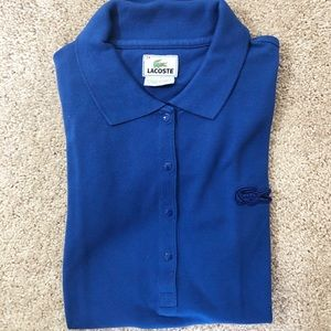 Lacoste Blue Polo Top with Buttons